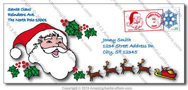 free letters from santa claus by mail amazing santa post office 27349 | envelope2